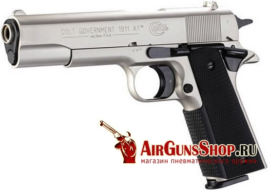Umarex Colt Government 1911 A1 Никель
