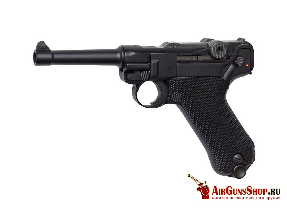 Пистолет ASG Luger P08 Blowback грин газ (16229)